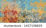 modern art drawing. digital...   Shutterstock . vector #1427158835