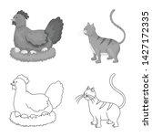 vector design of breeding and... | Shutterstock .eps vector #1427172335