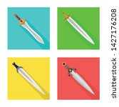 isolated object of and sword...   Shutterstock .eps vector #1427176208