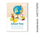 diary cover for children.... | Shutterstock .eps vector #1427176592