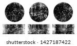 set of black grunge round and... | Shutterstock .eps vector #1427187422