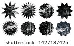 set of black grunge starburst... | Shutterstock .eps vector #1427187425