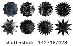 set of black grunge starburst... | Shutterstock .eps vector #1427187428