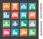 shopping mall flat icon set1   Shutterstock .eps vector #1427195075