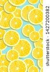 lemon fruits slice seamless... | Shutterstock .eps vector #1427200382