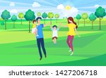 happy family  mother  father... | Shutterstock .eps vector #1427206718