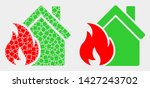dotted and flat house fire...   Shutterstock .eps vector #1427243702