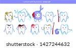 vector illustration collection... | Shutterstock .eps vector #1427244632