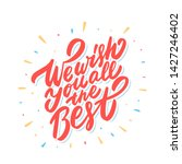 we wish you all the best.... | Shutterstock .eps vector #1427246402