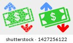dot and flat banknotes exchange ... | Shutterstock .eps vector #1427256122
