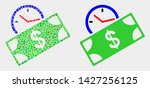 pixel and flat banknote credit... | Shutterstock .eps vector #1427256125