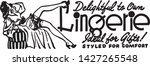 lingerie 2   retro ad art banner | Shutterstock .eps vector #1427265548