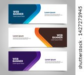 abstract vector banners.modern... | Shutterstock .eps vector #1427273945