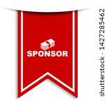 red vector illustration banner... | Shutterstock .eps vector #1427285462