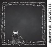 ashwagandha hand drawn border...   Shutterstock .eps vector #1427287568