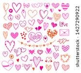 hearts vector illustrations.... | Shutterstock .eps vector #1427290922