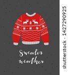 warm winter clothes vector... | Shutterstock .eps vector #1427290925