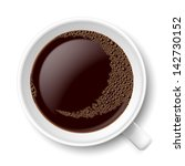 mug of coffee. top view... | Shutterstock .eps vector #142730152