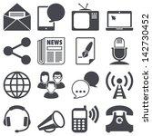 icons set  communication   Shutterstock .eps vector #142730452