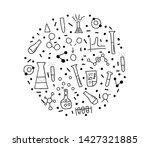 round badge of chemistry...   Shutterstock . vector #1427321885