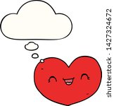 cartoon love heart with thought ... | Shutterstock .eps vector #1427324672