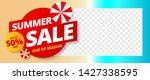 summer sale banner template...   Shutterstock .eps vector #1427338595