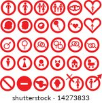gender or family icons | Shutterstock . vector #14273833