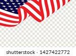 waving american flag of the... | Shutterstock .eps vector #1427422772