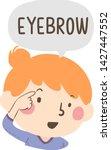 illustration of a kid girl... | Shutterstock .eps vector #1427447552