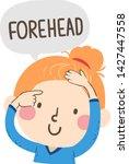 illustration of a kid girl... | Shutterstock .eps vector #1427447558