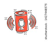 voice assistant icon in comic... | Shutterstock .eps vector #1427448575