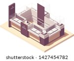 vector isometric jewelry mall... | Shutterstock .eps vector #1427454782