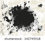 grunge background with halftone | Shutterstock . vector #142745518