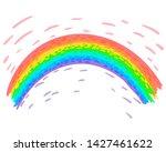 rainbow of seven colors ...   Shutterstock .eps vector #1427461622