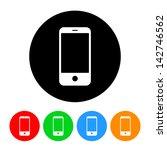 smartphone icon | Shutterstock .eps vector #142746562