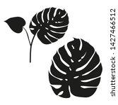 monstera leaves. flat style.... | Shutterstock .eps vector #1427466512
