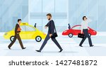 business people walking on city ... | Shutterstock .eps vector #1427481872