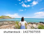 young girl woman female on...   Shutterstock . vector #1427507555