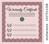 red retro warranty template.... | Shutterstock .eps vector #1427511338