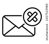 not receive mail icon. outline... | Shutterstock .eps vector #1427515985