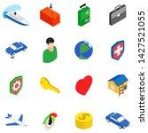 business travel icons set....   Shutterstock .eps vector #1427521055