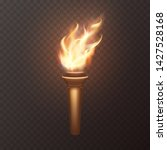 torch flame isolated on... | Shutterstock .eps vector #1427528168