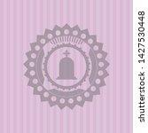 tombstone icon inside badge... | Shutterstock .eps vector #1427530448