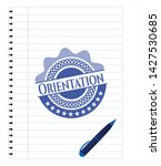 orientation emblem draw with... | Shutterstock .eps vector #1427530685