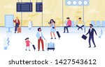 people walking with the bagagge ...   Shutterstock .eps vector #1427543612