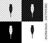 usb cable cord icon on black ... | Shutterstock .eps vector #1427545382