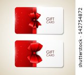 bright vector gift cards | Shutterstock .eps vector #142754872