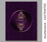 wedding invitation card with... | Shutterstock .eps vector #1427549705