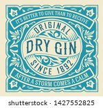old label with floral frame   Shutterstock .eps vector #1427552825