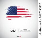 flag of usa with  brush stroke  ... | Shutterstock .eps vector #1427553032